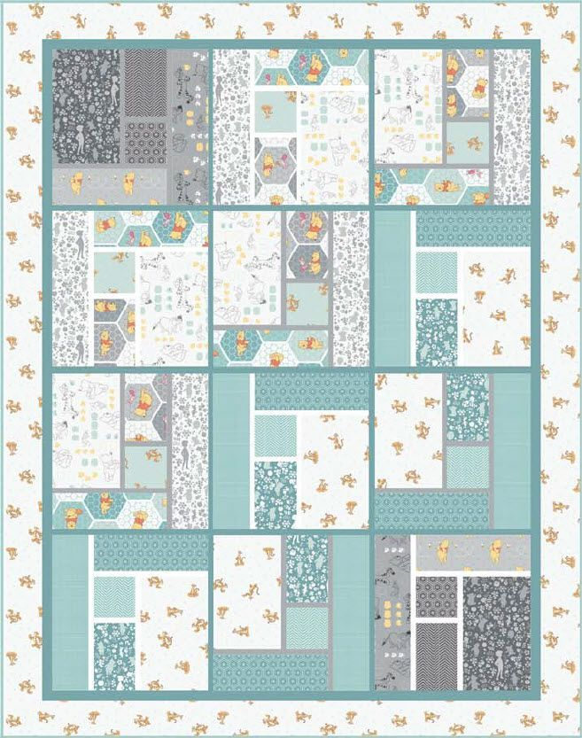 Winnie The Pooh - Whimsical Free Quilt Pattern   Quilt Blocks and ... : free patchwork cot quilt patterns - Adamdwight.com