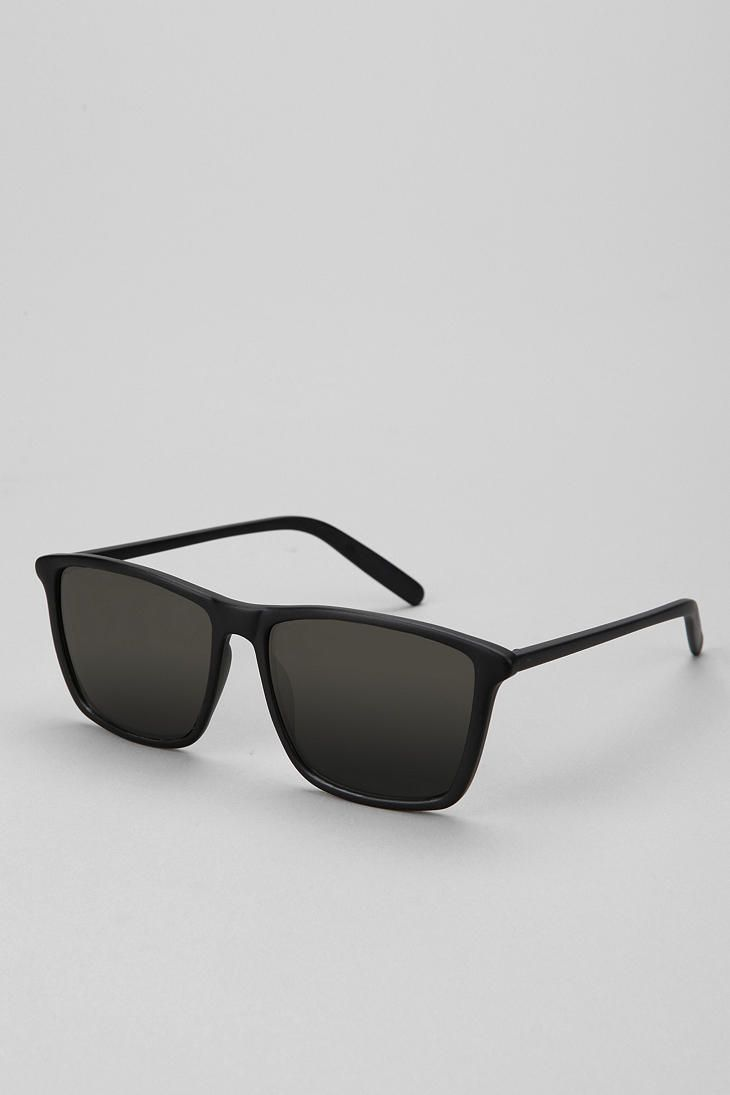 Square Bottom Wayfarer Sunglasses - Urban Outfitters