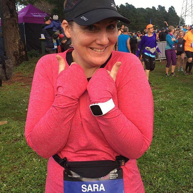 Sara is off in the Hawke's Bay Marathon #runsararun #thereswineattheend #hawkesbayrun #getconnected