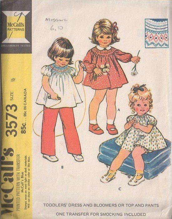 MOMSPatterns Vintage Sewing Patterns - McCalls 3573 Vintage 70s ...