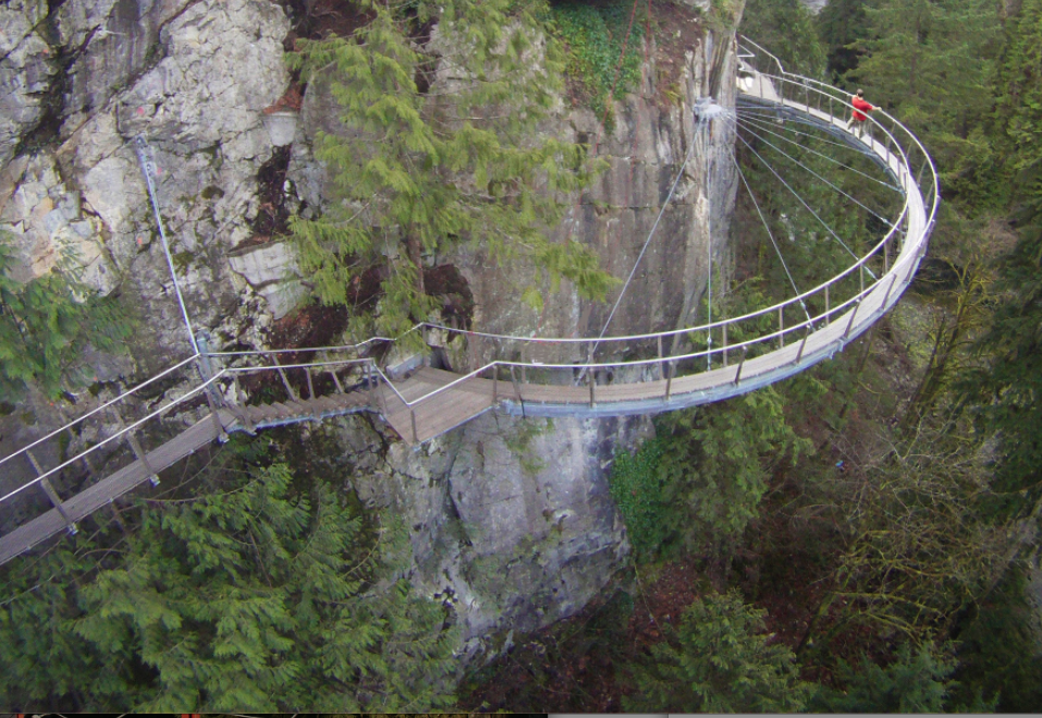 Capilano cliff walk Capilano suspension bridge