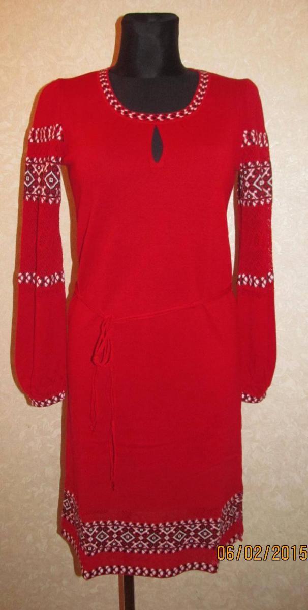 Плаття трикотажне   Вишиванки жіночі   Плаття   Трикотажні плаття    ПанiВишиванка 215e26e4b7799