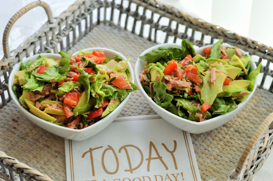 5 healthy salads you have to try! #tuna #watermelon #avocado