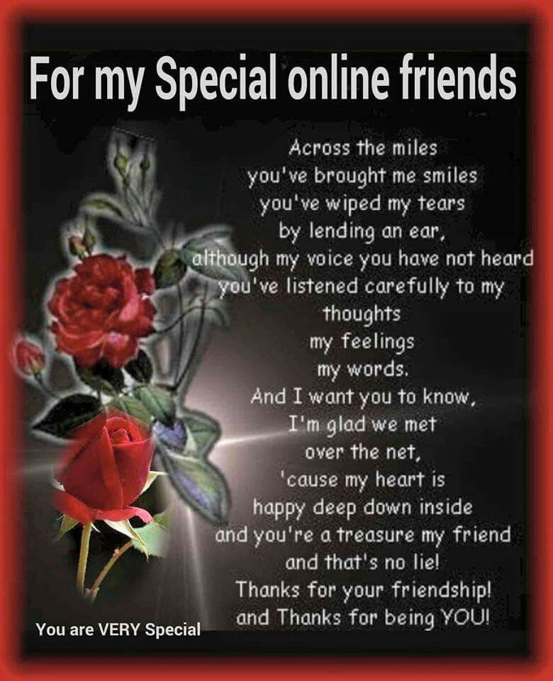 For My Special Online Friends True Friendship Quotes True Friendship Friendship Photos