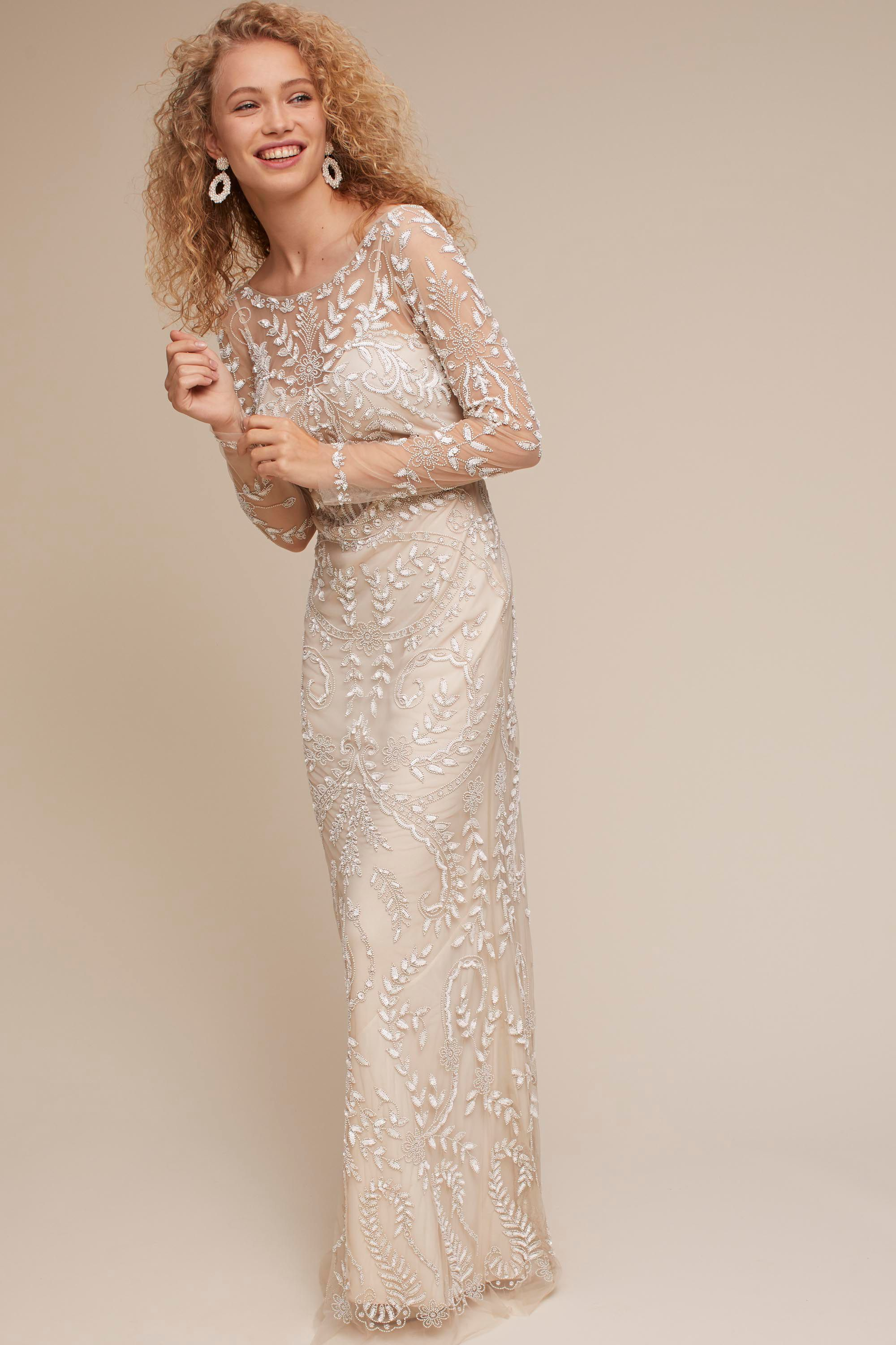 Champagne beyond the sea gown bhldn wedding dreams in