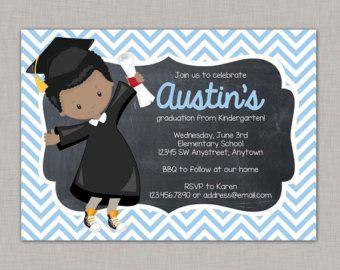 PreschoolKindergarten Graduation Invitation Custom DIGITAL
