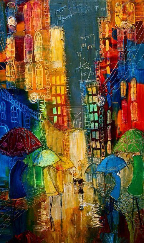 Resultado de imagen para pintores que pintan ciudades