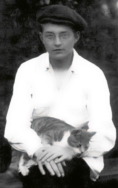Dimitri Shostakovich et son chat.