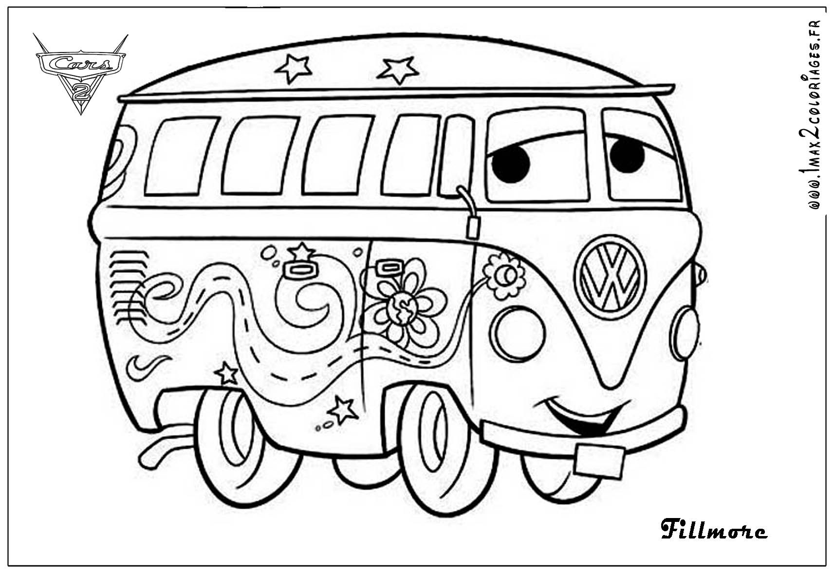 Cars 2 Printable Coloring Pages Coloriages Fillmore Cars2 Big