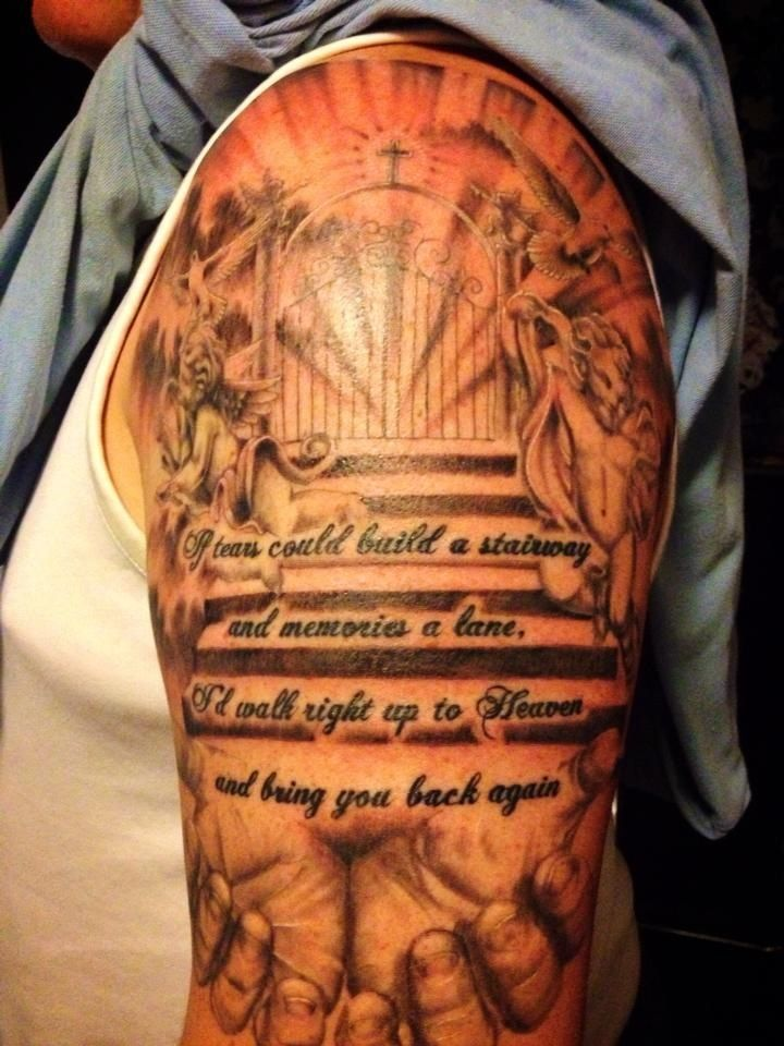 Can You Get Into Heaven With Tattoos Pin By Frances Ann Vallejo On Differentthings Memorial Tattoos Memorial Tattoo Designs Tattoos For Dad Memorial
