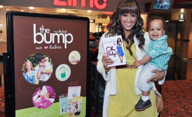 """Tia Mowry (from """"Sister Sister"""") and her son Cree http://blog.thebump.com/2012/05/02/bring-your-baby-matinee-with-tia-mowry/"""