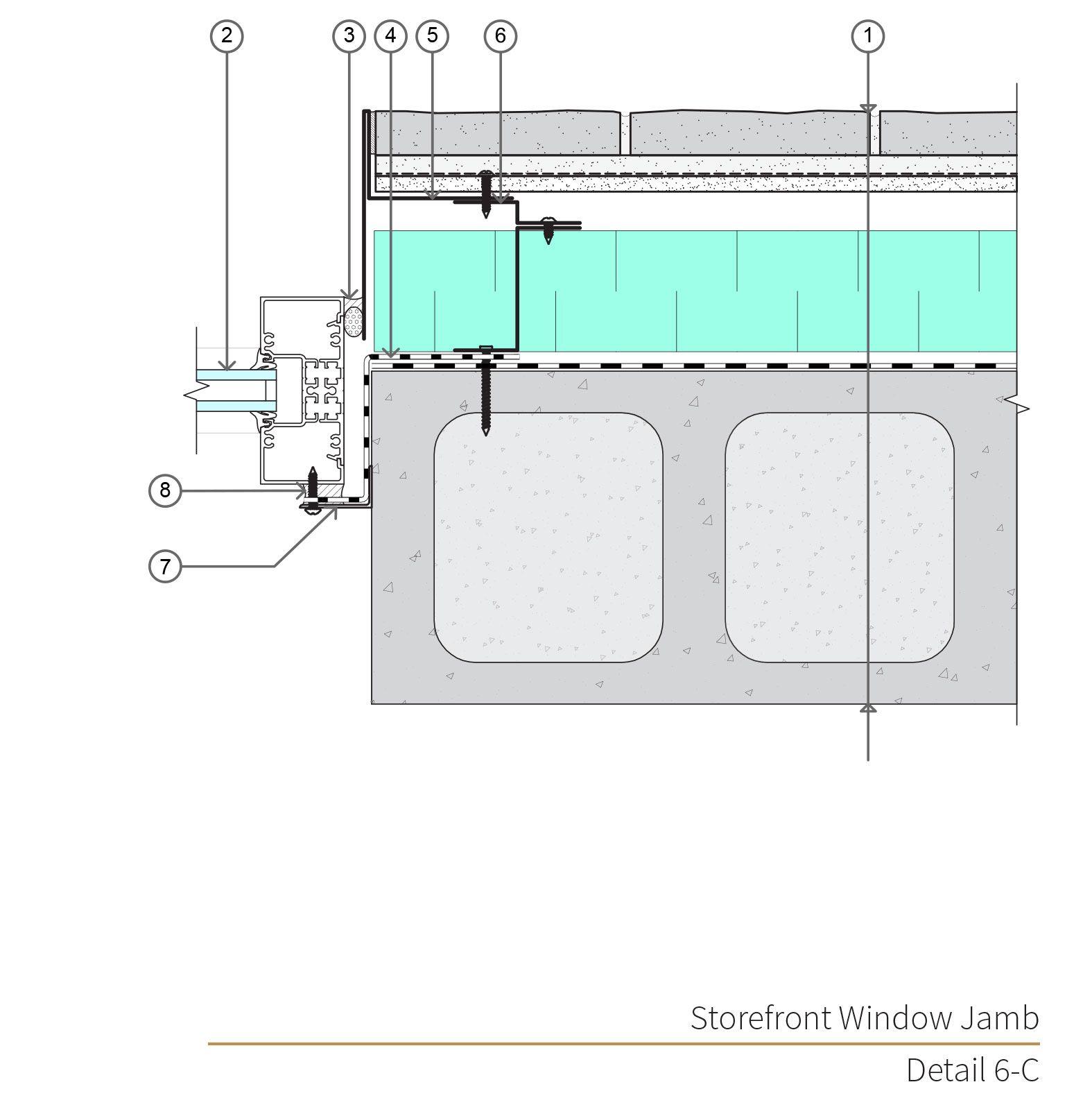 Assembly 6 Detail 6c Masonry Veneer Concrete Masonry Unit Masonry