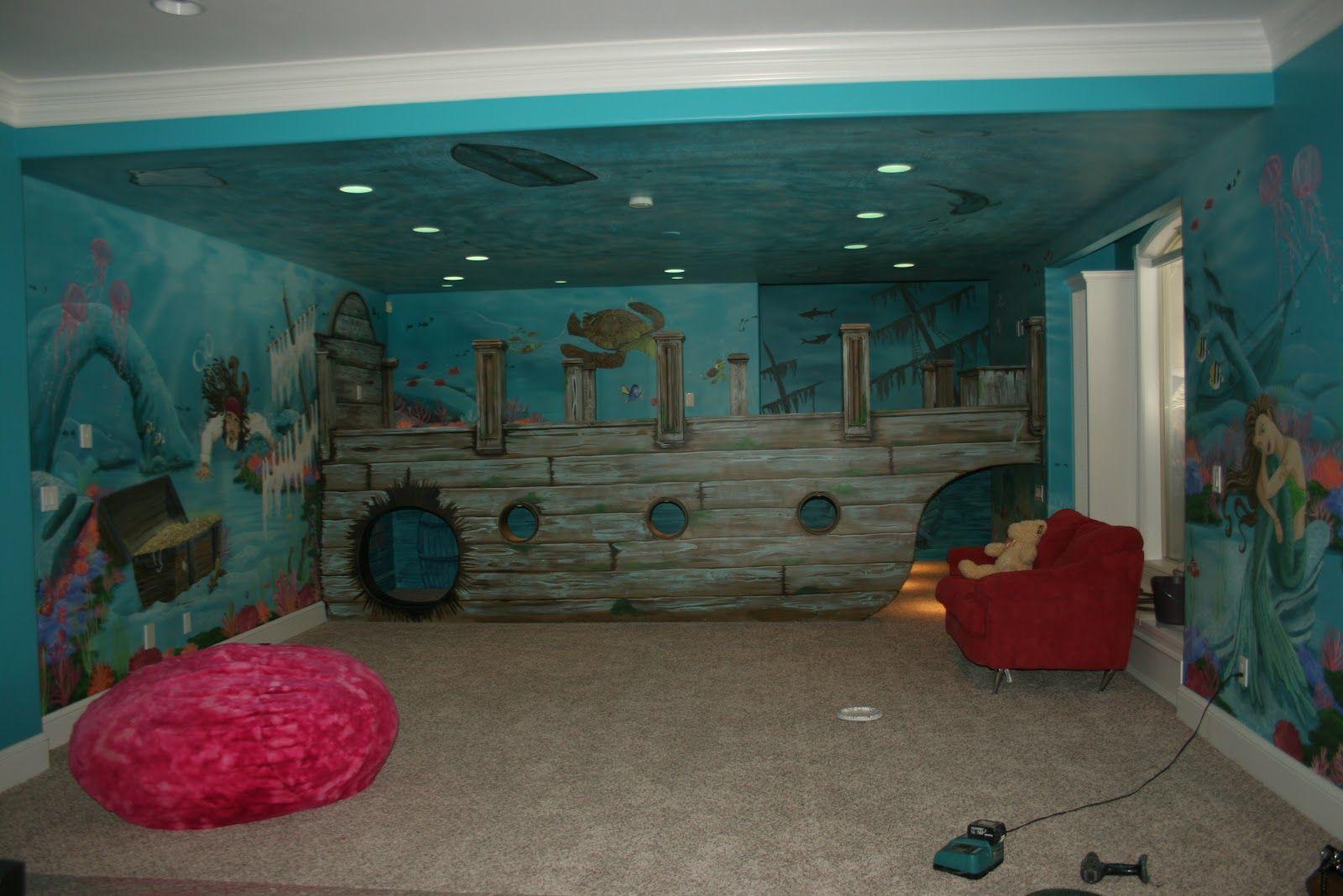 artistic murals sunken ship pirate underwater mural home artistic murals sunken ship pirate underwater mural