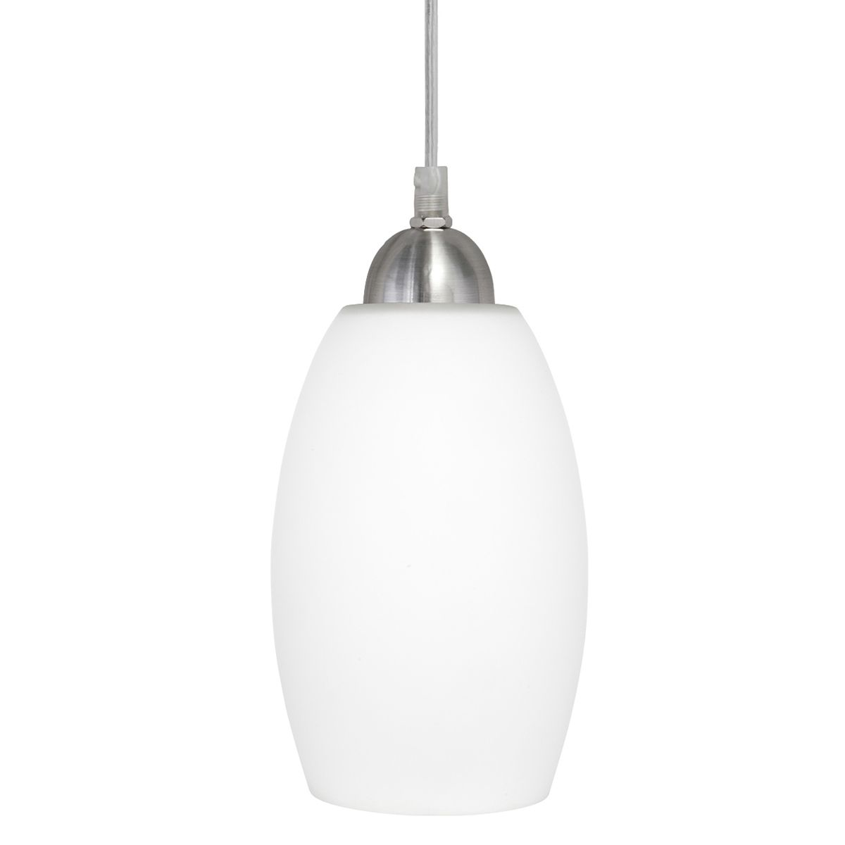 Modern do it yourself pendant light with white frosted glass modern do it yourself pendant light with white frosted glass brushed steel metalware aloadofball Images