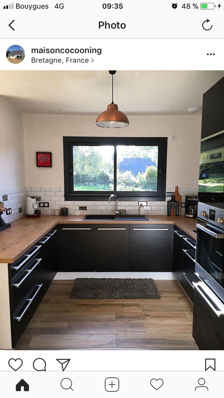 Maison Cuisine Moderne Cuisine Blanche Et Bois Cuisines Maison