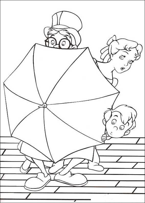 Kleurplaten Peter Pan En Tinkerbell.Peter Pan Kleurplaten 12 Coloring Pages Animation Peter Pan
