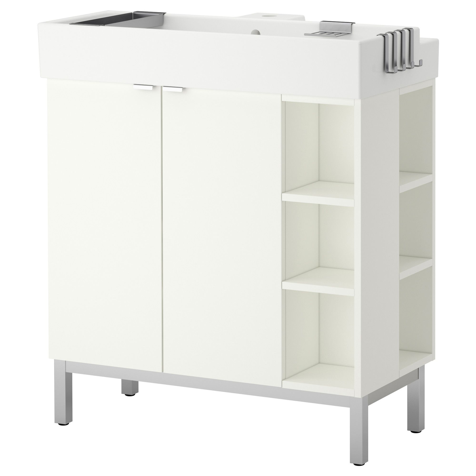 Bathroom sink cabinets ikea - Lill Ngen Sink Cabinet 2 Doors 2 End Units Aluminum Ikea Product Dimensions