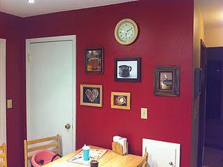 Red Kitchen Wall Behr Cherry Cobbler