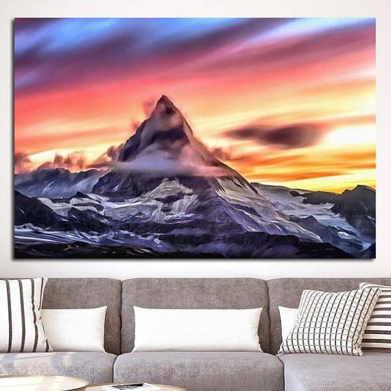 Matterhorn Canvas Mountain Large Art Rocky Mountain Photo Mountain