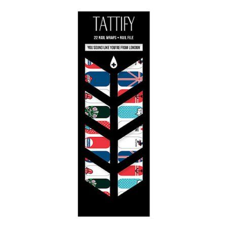 Tattify UK Nail Wraps - You Sound Like You're From London (Set of 22)