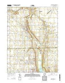 Lake Milton Ohio Map.West Milton Oh Topo Map 1 24000 Scale 7 5 X 7 5 Minute Historical