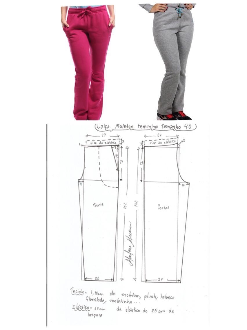 Pantalon   n   Pinterest   Costura, Molde y Patrones