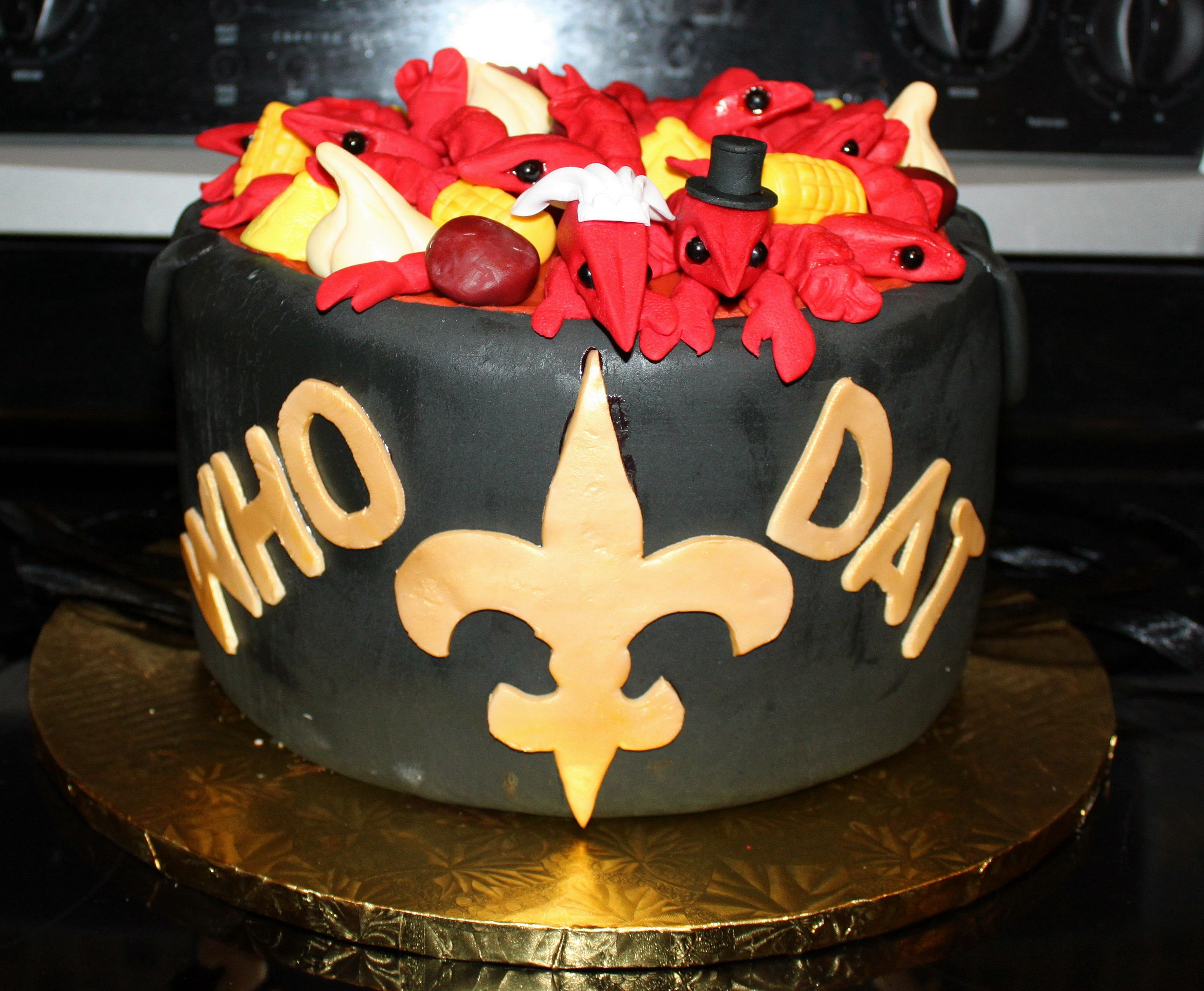 New Orleans Saints Boiling Pot Grooms Cake Bride And Groom Crawfish