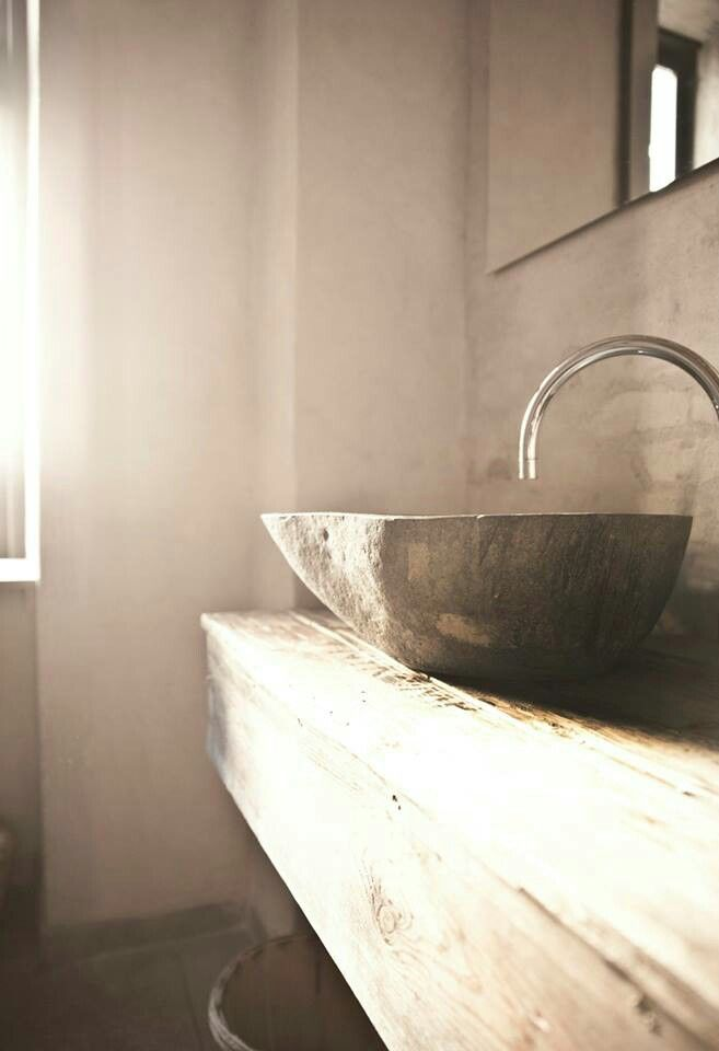Love the combination of materials 洗手间 Pinterest Basin, Bath