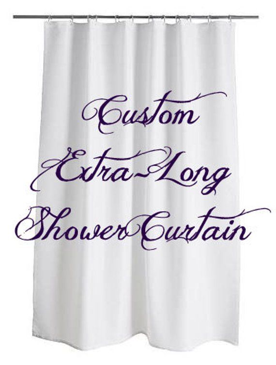 Extra Long Personalized Custom Shower Curtain Monogram With Name Or Initials Perfect For Any Bathroom Custom Shower Custom Shower Curtains Extra Long Shower Curtain