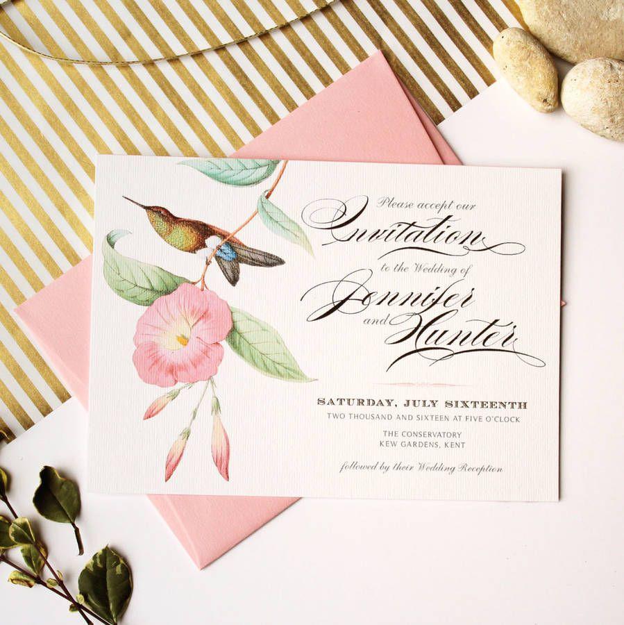 Tropical Hummingbird Wedding Invitation Suite | Invitation suite ...