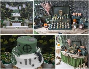 Army birthday party food ideas army party centerpieces for Army theme party decoration ideas