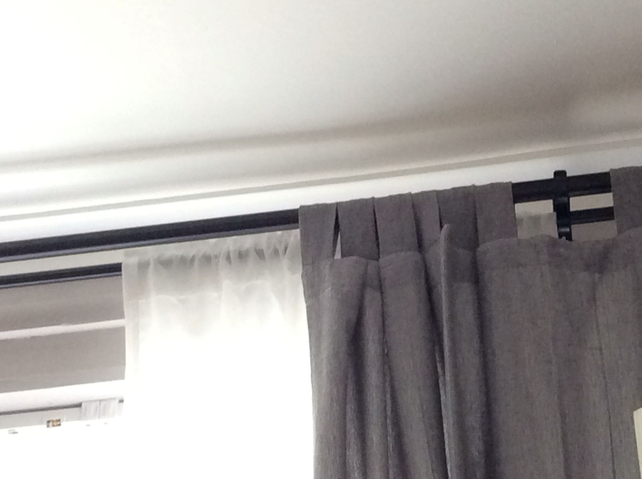 double curtain rod from ikea adds