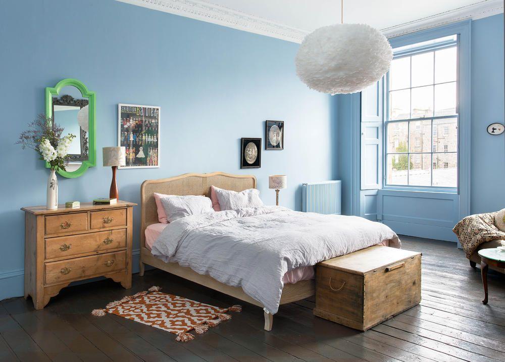 Schlafzimmer Hellblau ~ Schlafzimmer wandfarbe auswählen und ein modernes ambiente