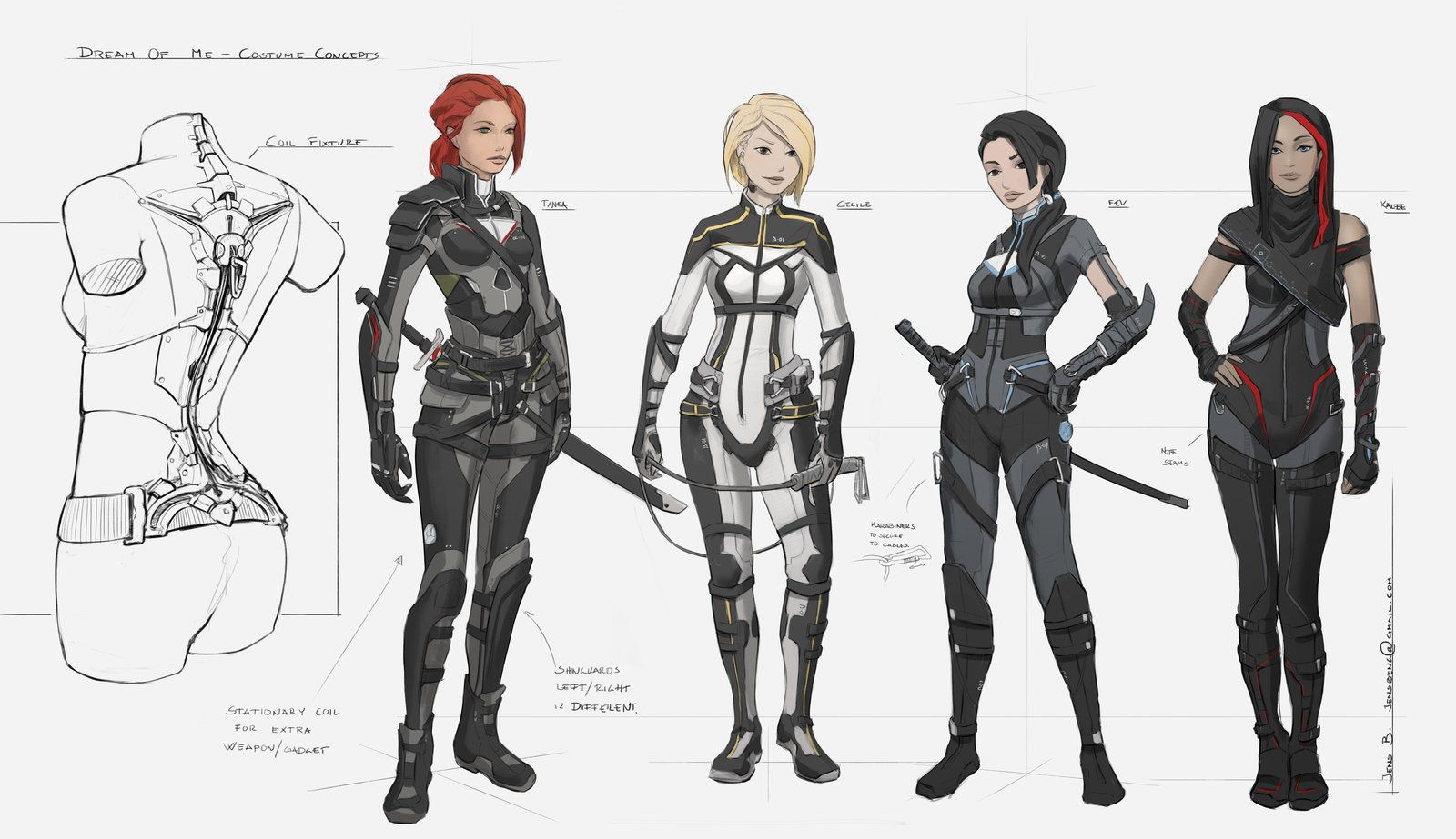 Character Design Lineup : Dream of me character lineup by rubisko viantart on