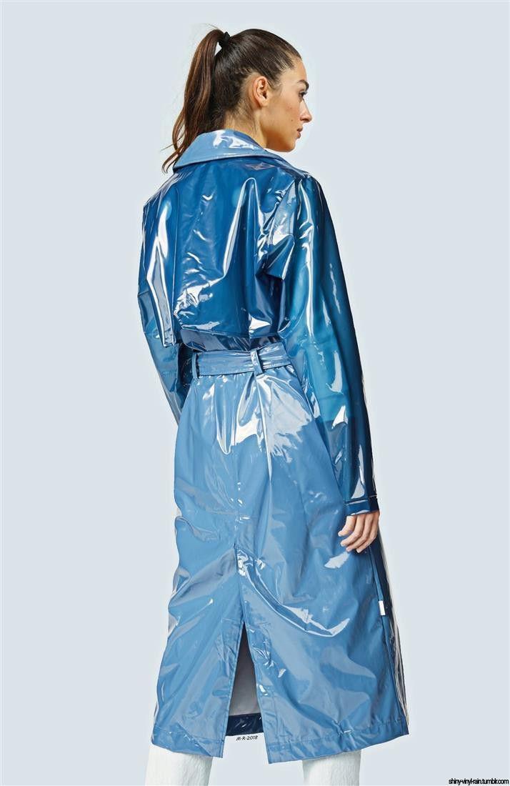 Pvc Raincoat, Plastic Trench Coat
