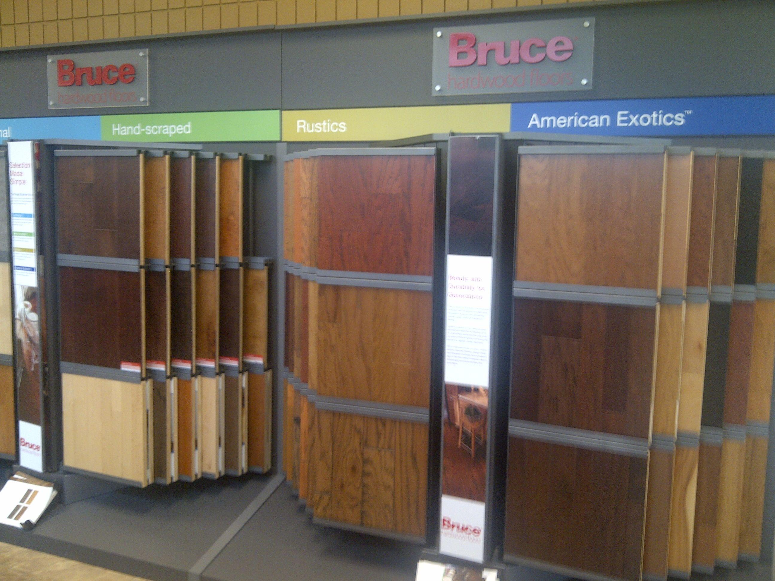 Bruce Hardwood display samples Locker storage, Storage