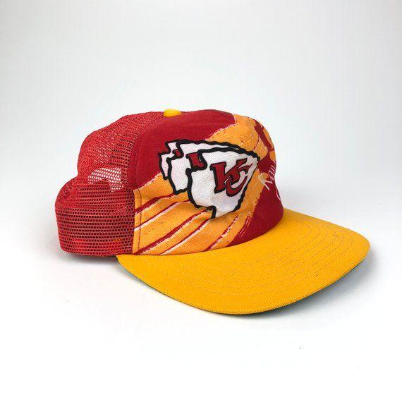 840d42529b8583 90s Kansas City Chiefs Snapback Hat, Vintage KC Chiefs Hat, 90s Snapback, Vintage  Chiefs Football Sn