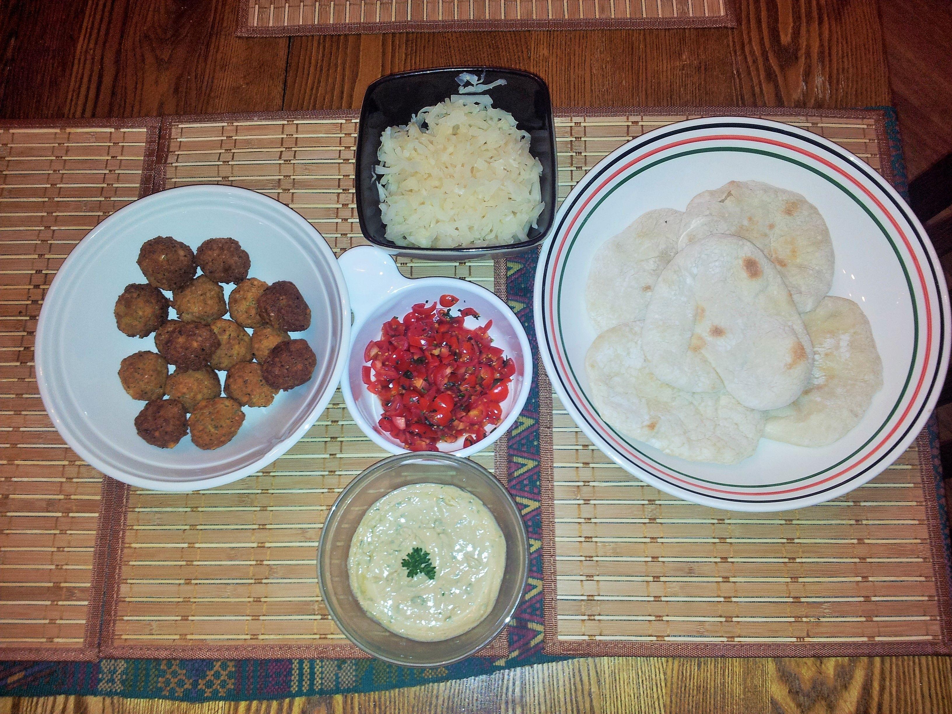Falafel, Pita, & tahini sauce - made from scratch.