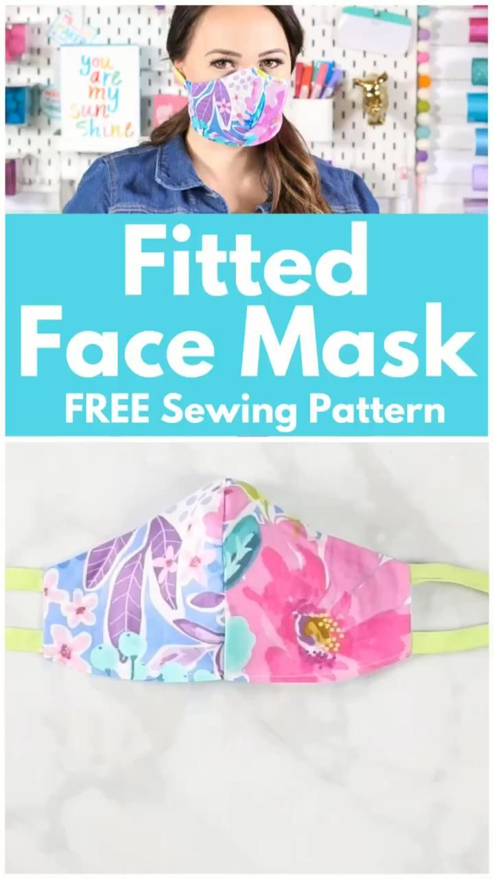 How To Sew A Fitted Cotton Face Mask Sweet Red Poppy Video Video In 2020 Easy Face Mask Diy Mask Diy Face Mask