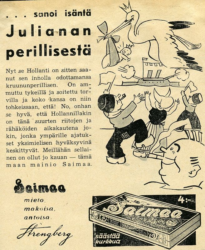 Saimaa: ...sanoi isäntä Julianan perillisestä, 1938