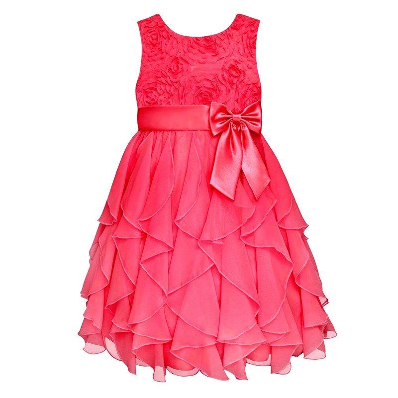 Sleeveless Corkscrew Ruffle Dress (4-6x)