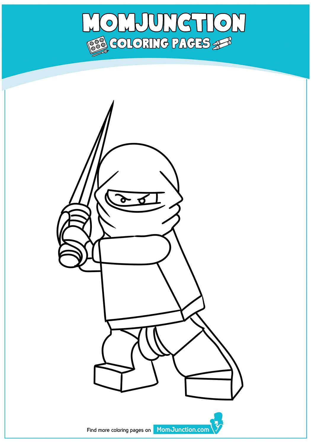The Cute Ninja Boy With Funky Costume Coloring Page Lego Coloring Pages Transformers Coloring Pages Coloring Pages