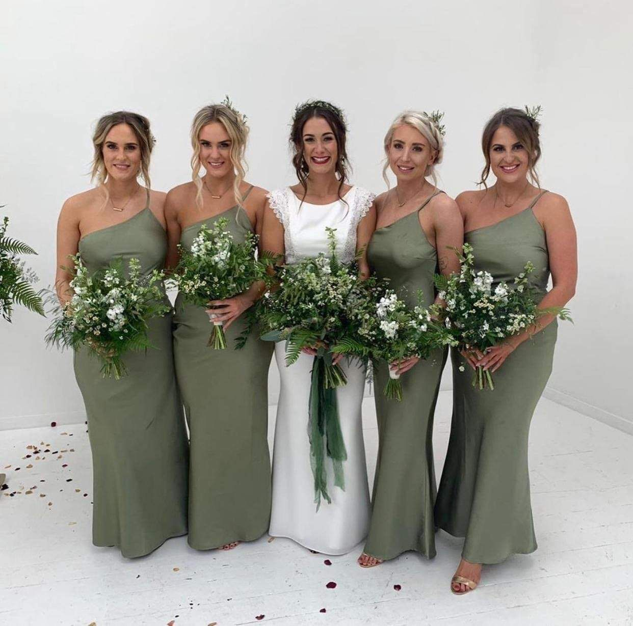 21++ Olive green bridesmaid dresses ideas ideas in 2021