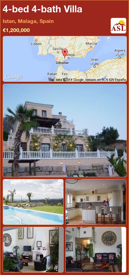 4-bed 4-bath Villa in Istan, Malaga, Spain ►€1,200,000 #PropertyForSaleInSpain