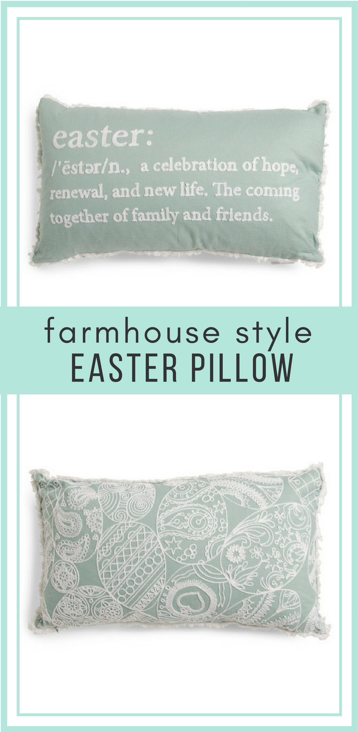 easter definition pillow, eggs, lace, embroidery, modern, farmhouse