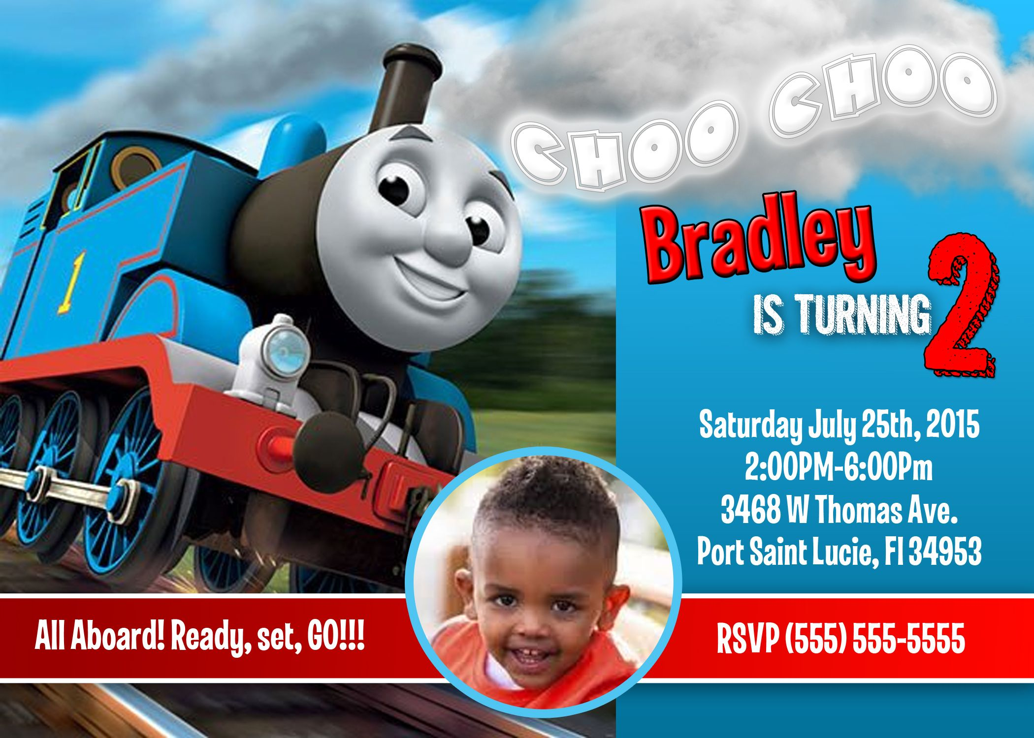Thomas the Train Birthday Invitations | Birthdays
