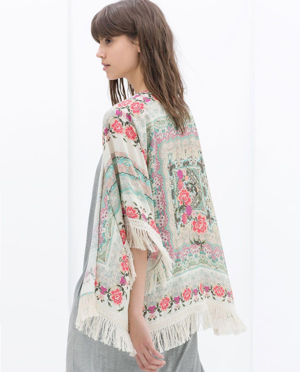 Afbeelding 4 van SJAAL MET PRINT van Zara | Fashion | Pinterest ...