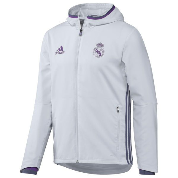 Men s adidas White Real Madrid 2016 17 Training Presentation Jacket dfc60b556d596