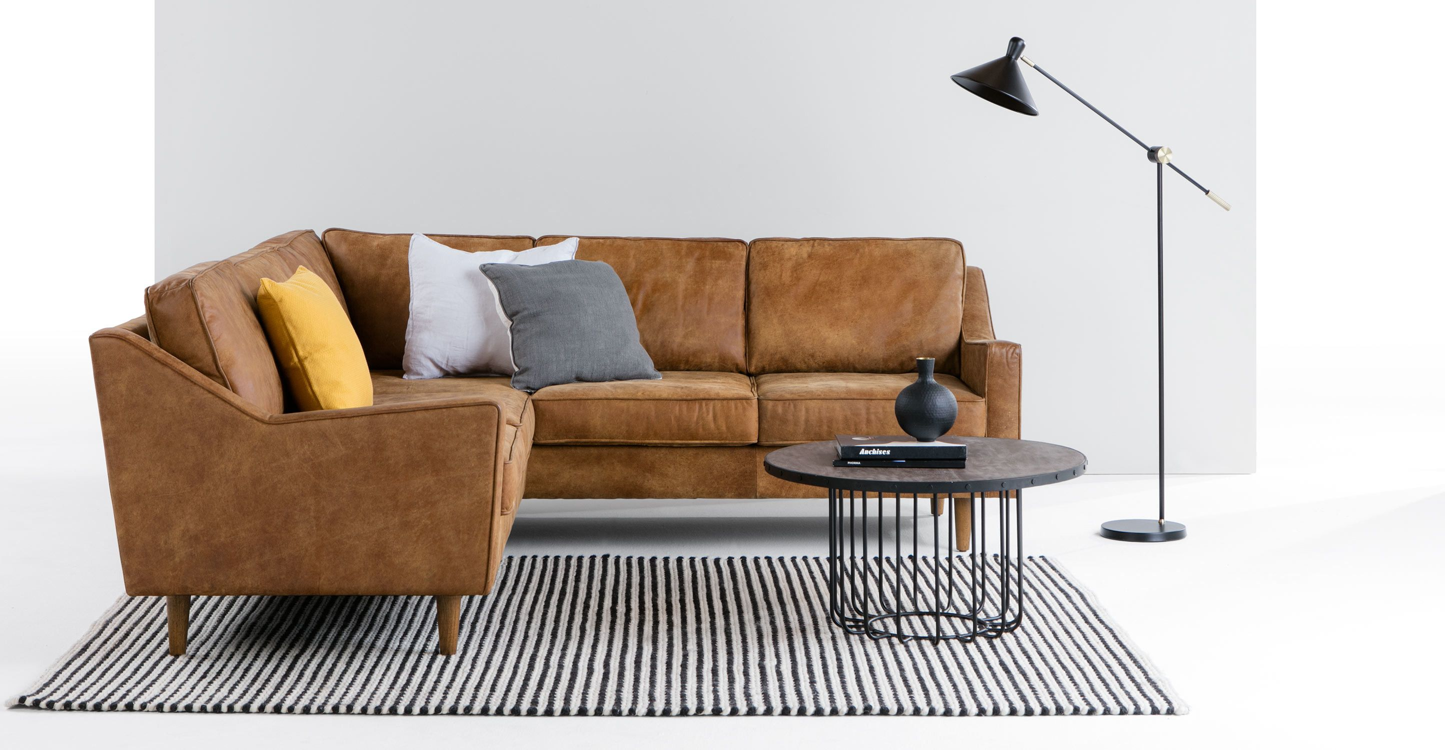 MADE Outback Tan Premium Leather Corner sofa | For the Home ...