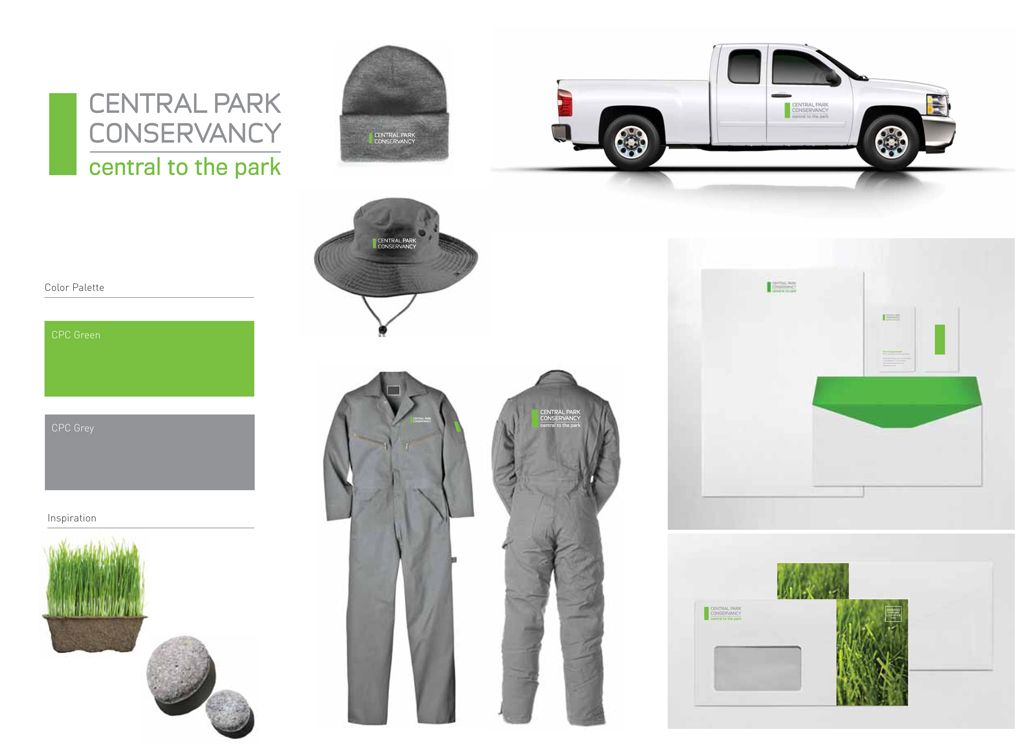 Central Park Conservancy identity design